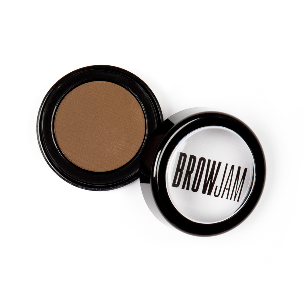 brow powder jar open