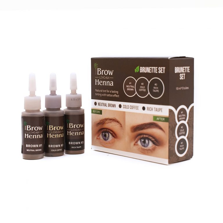 BH Brow Henna Dye Set Cold Coffee, Rich Taupe, Neutral Brown