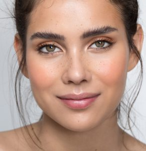 Combination brows are the ultimate treatment, combining powdered and hairstroke effects together to achieve a fluffy, textured, yet defined brow.