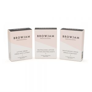 Browjam's TVT Lamination 1-2-3 without bonding serum was created to give you that amazing Browjam look at home.