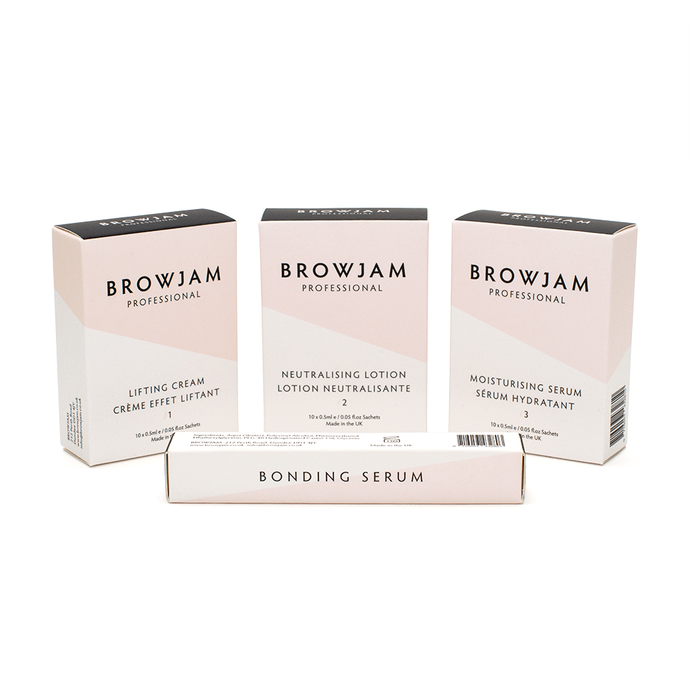 Browjam's TVT Lamination 1-2-3 with bonding serum was created to give you that amazing Browjam look at home.