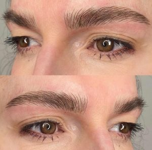 An example of microblading